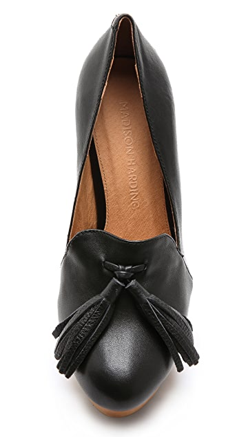 Madison Harding Roscoe Tassel Platform Pumps
