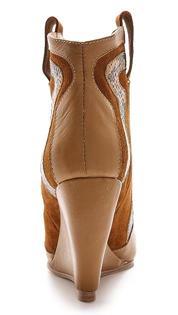 Madison Harding Roger Cowboy Wedge Booties