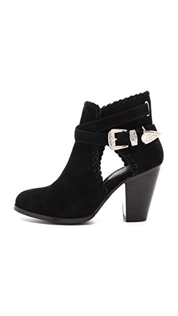 Madison Harding Olivia Cutout Suede Booties