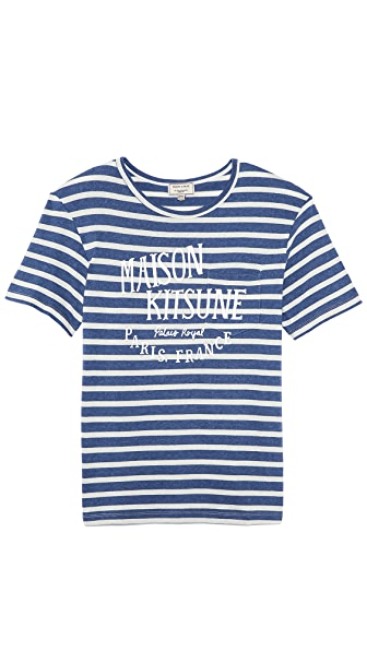 Maison Kitsune R Neck Pocket T-Shirt