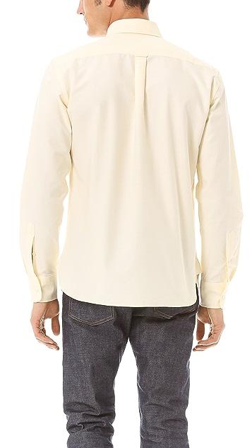 Maison Kitsune Fox Embroidery Sport Shirt