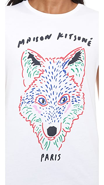 Maison Kitsune 3D Fox Tee Shirt