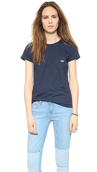Maison Kitsune Patch Pocket T-Shirt