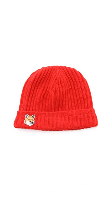Maison Kitsune Beanie Hat