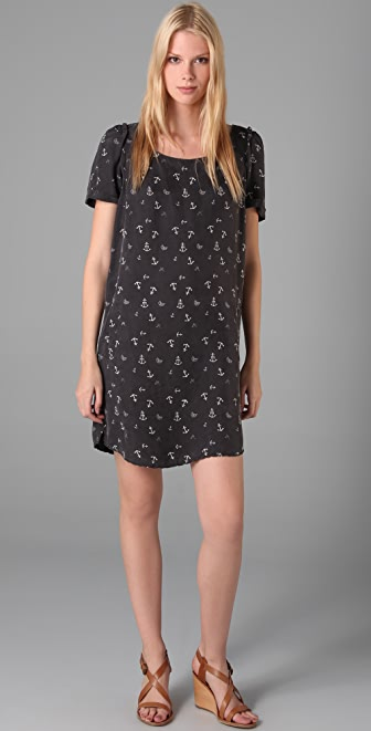 Scotch & Soda/Maison Scotch Anchor Print Short Sleeve Dress