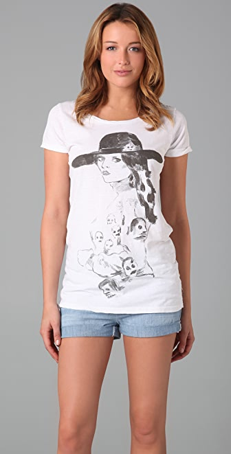Scotch & Soda/Maison Scotch Illustrated Crew Neck Tee