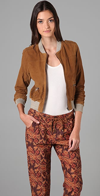 Scotch & Soda/Maison Scotch Suede Bomber Jacket