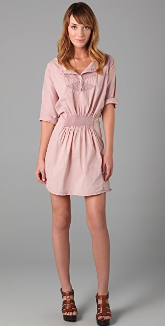 Scotch & Soda/Maison Scotch Embroidered Short Sleeve Dress