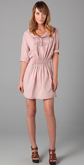 Scotch & Soda/Maison Scotch Embroidered Short Sleeve Dress