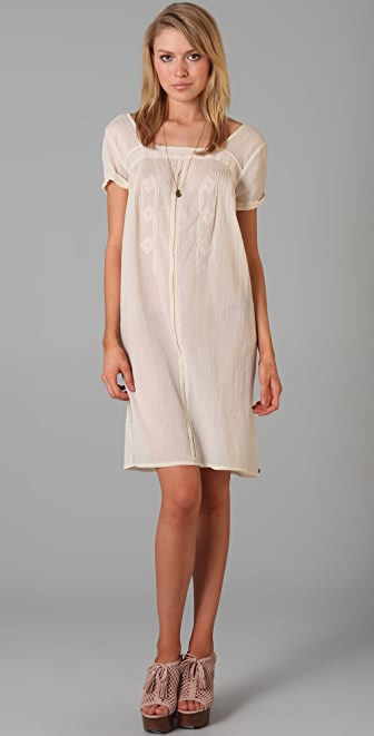 Scotch & Soda/Maison Scotch Vintage Inspired Embroidered Dress