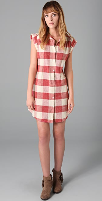 Scotch & Soda/Maison Scotch Checkered Shirtdress