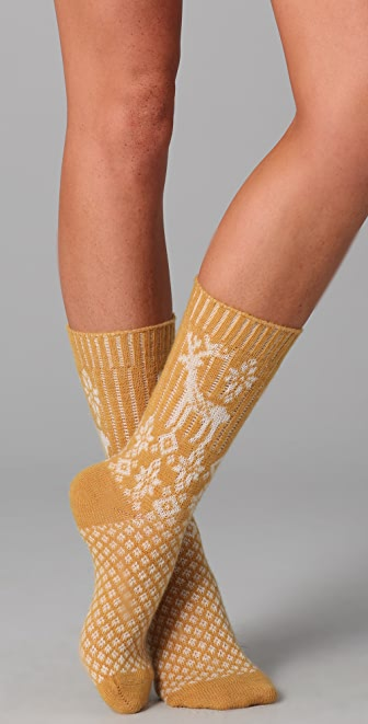 Scotch & Soda/Maison Scotch Deer Print Cozy Socks