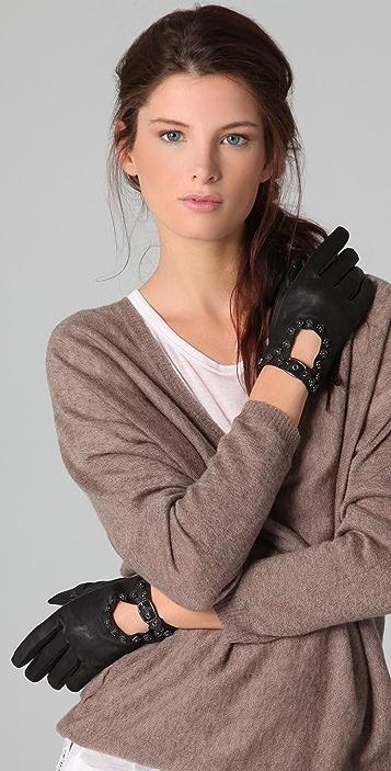 Scotch & Soda/Maison Scotch Bow Leather Gloves
