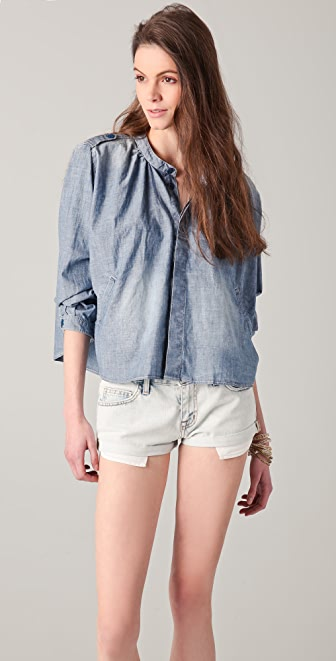 Scotch & Soda/Maison Scotch Cropped Denim Shirt