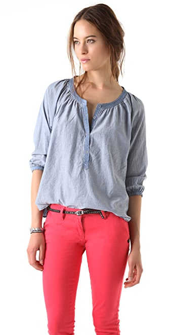 Scotch & Soda/Maison Scotch Chambray Rodeo Top