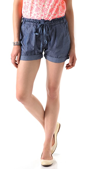 Scotch & Soda/Maison Scotch Belted Chambray Shorts