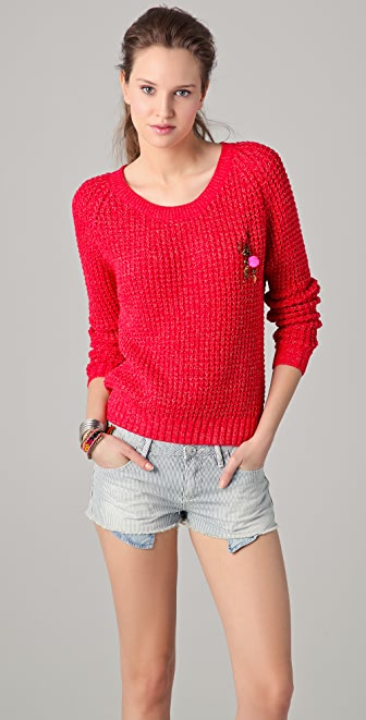 Scotch & Soda/Maison Scotch Long Sleeve Summer Sweater