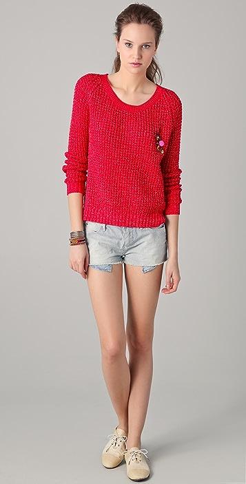 Scotch & Soda/Maison Scotch Long Sleeve Summer Sweater