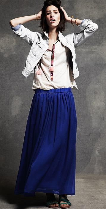 Scotch & Soda/Maison Scotch Chiffon Maxi Skirt
