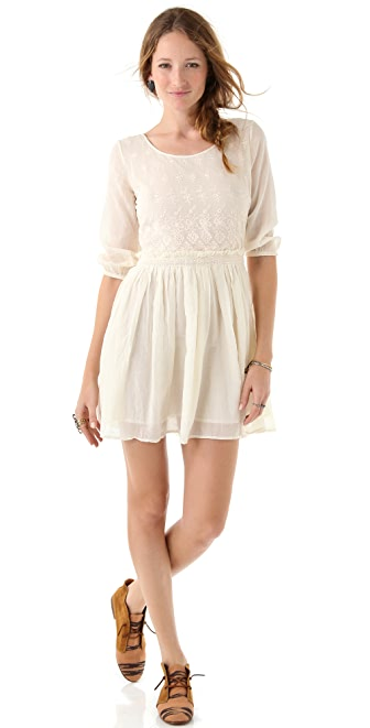 Maison Scotch Embroidered Lace Dress