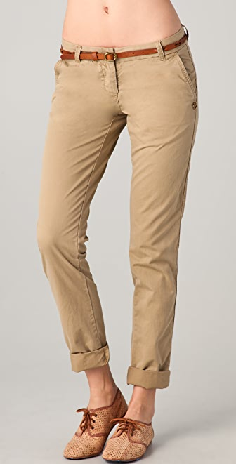 Maison Scotch Belted Basic Chino Pants