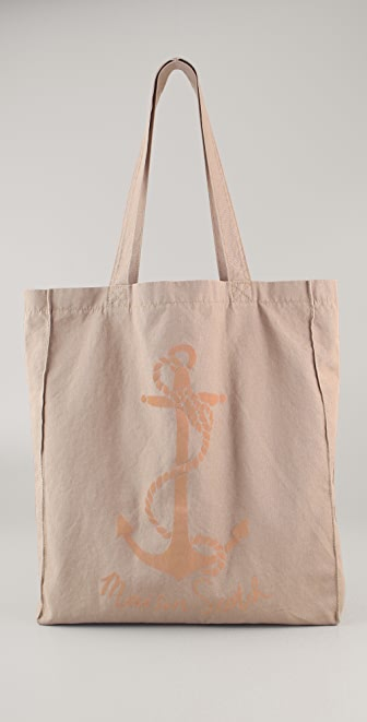 Scotch & Soda/Maison Scotch Pink Anchor Canvas Shopper
