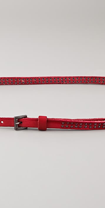 Scotch & Soda/Maison Scotch Washed Leather Studded Belt