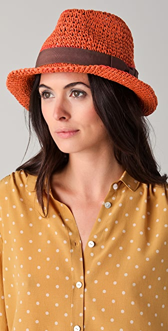 Scotch & Soda/Maison Scotch Straw Trilby Hat with Sash