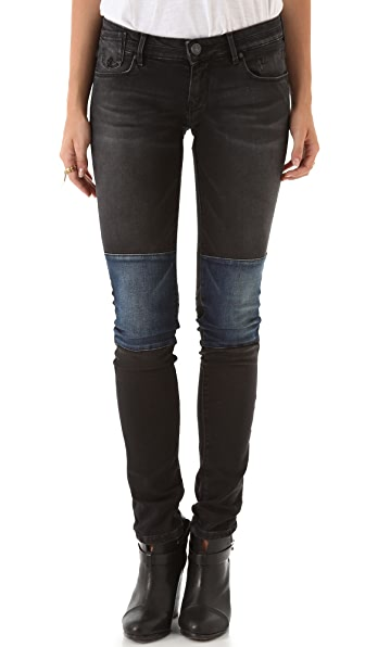 Scotch & Soda/Maison Scotch La Parisienne Patchwork Skinny Jeans