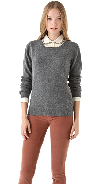 Maison Scotch Sweater & Removable Collar