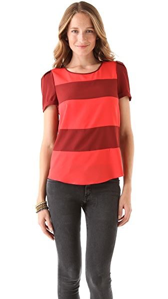 Scotch & Soda/Maison Scotch Silky Feel Striped Top