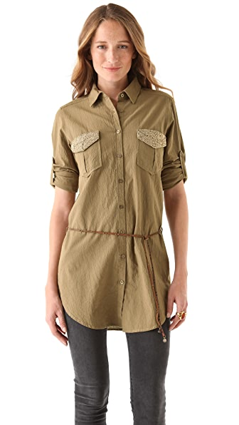 Maison Scotch Army Inspired Tunic