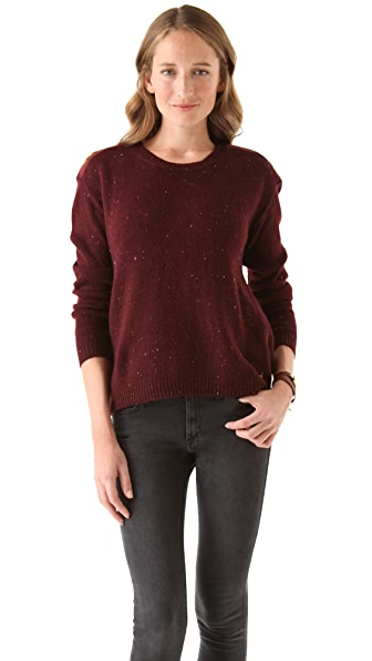 Maison Scotch Boxy Fit Knitted Melange Sweater