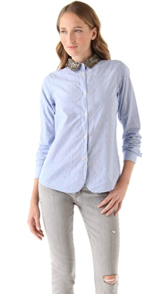 Scotch & Soda/Maison Scotch Sequined Collar Shirt