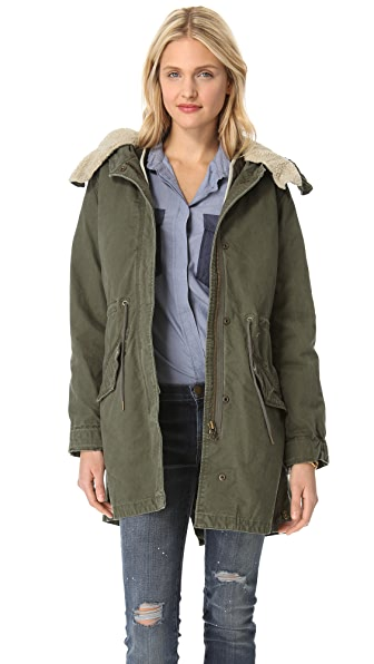 Maison Scotch Parka with Wire Hood