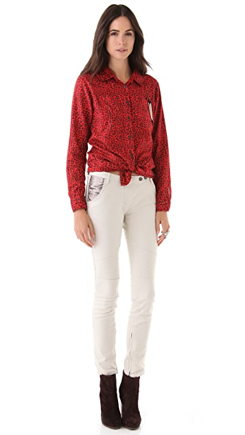 Scotch & Soda/Maison Scotch Front Knot Shirt