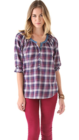 Scotch & Soda/Maison Scotch Plaid Top