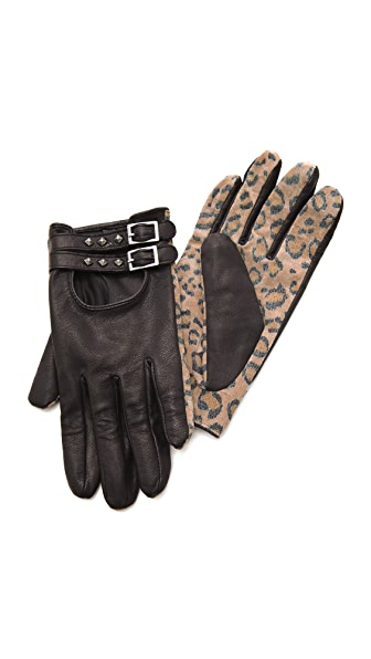 Scotch & Soda/Maison Scotch Leopard Print Gloves