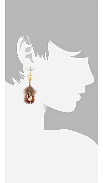 Scotch & Soda/Maison Scotch Peace Feather Earrings