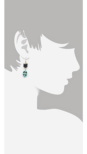 Scotch & Soda/Maison Scotch Skull Beaded Earrings