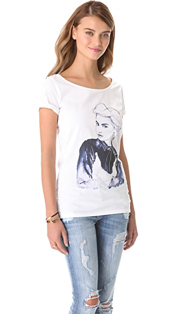 Scotch & Soda/Maison Scotch Printed Tee
