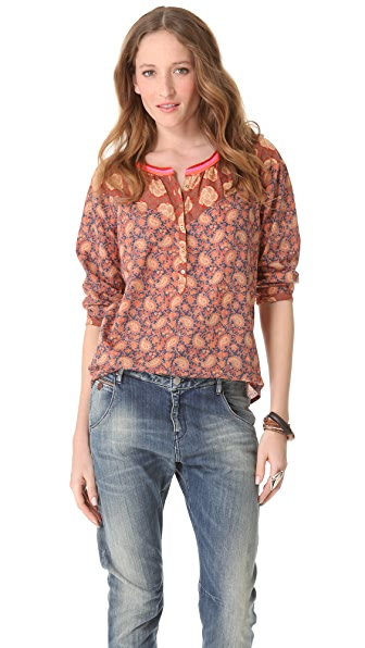 Maison Scotch Retro Printed A Line Top