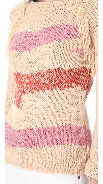 Scotch & Soda/Maison Scotch Fringe Trim Sweater