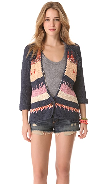 Scotch & Soda/Maison Scotch Western Cardigan with Fringe