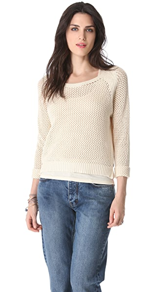 Maison Scotch Mesh Sweater with Tank Lining