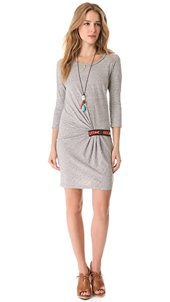 Maison Scotch Embroidered Dress with Necklace