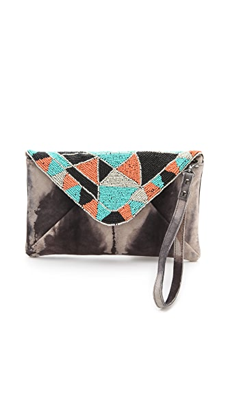 Scotch & Soda/Maison Scotch Beaded Suede Clutch