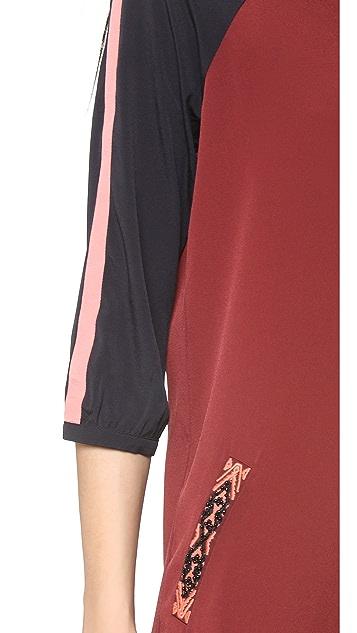 Scotch & Soda/Maison Scotch Baseball Colorblock Dress