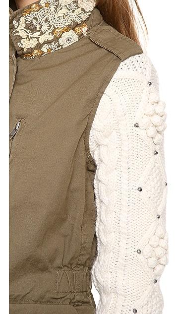 Scotch & Soda/Maison Scotch Army Jacket with Knit Sleeves