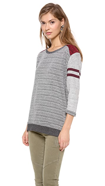 Scotch & Soda/Maison Scotch 3/4 Sleeve Baseball Sweatshirt